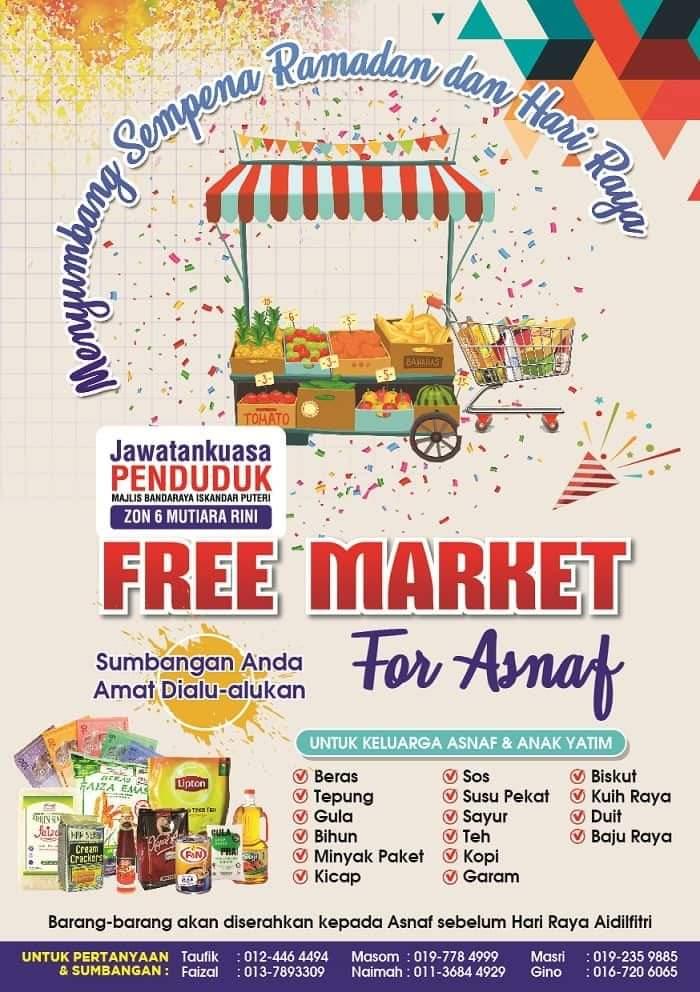 Free Market For Asnaf – Menyumbang Sempena Ramadhan & Hari Raya
