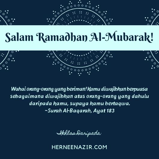 Salam Ramadhan Al-Mubarak 1440H