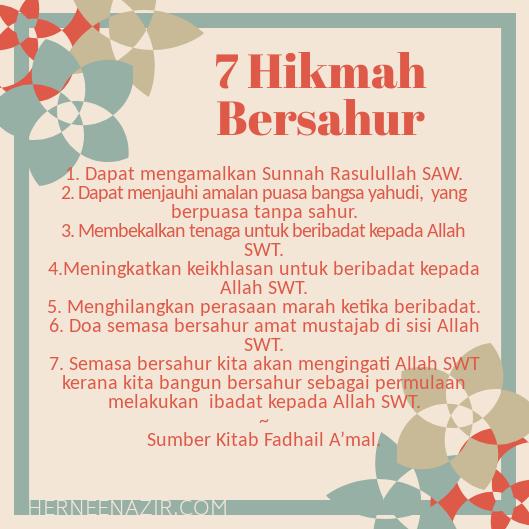 7 Hikmah Bersahur