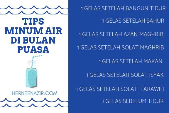 Tips Minum Air di Bulan Puasa