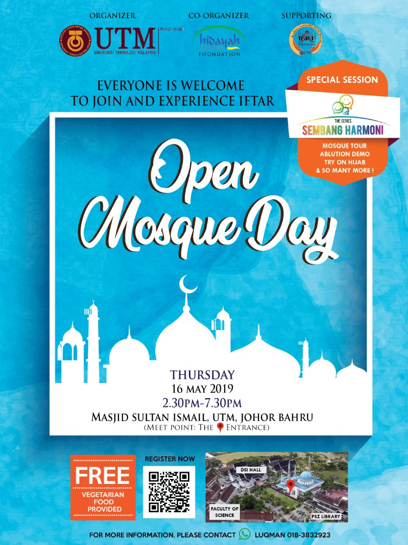 UTM Open Mosque Day – Masjid Sultan Ismail UTM| 16 May 2019
