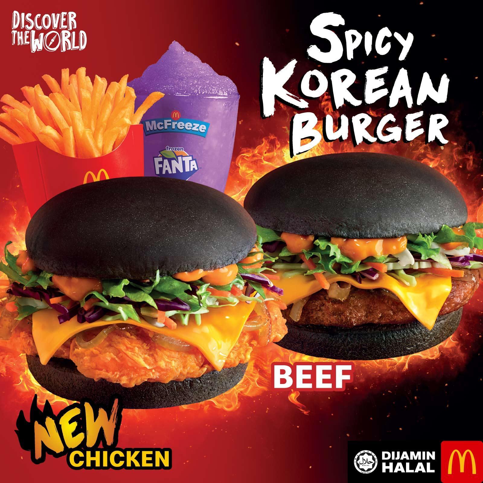 Mc Donald's Spicy Korean Burger is Back!