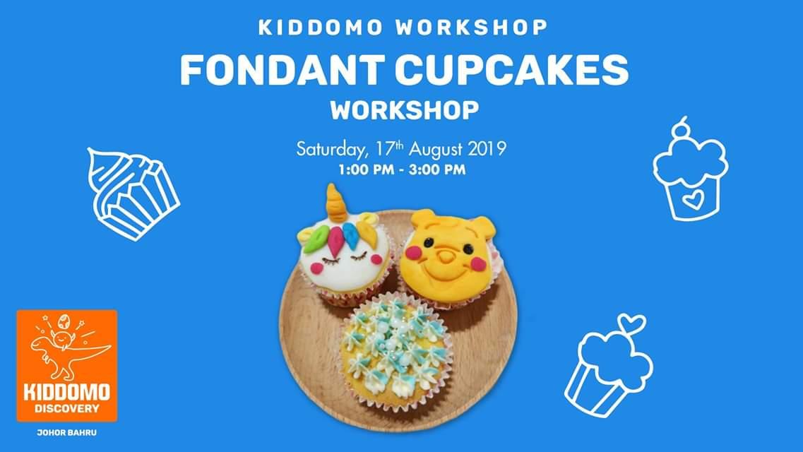 Kiddomo Workshop – Fondant Cupcakes Workshop (17 Aug 2019)