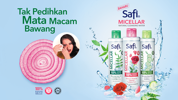 SAFI Micellar Natural Cleansing Water The Skin-friendly Makeup Remover