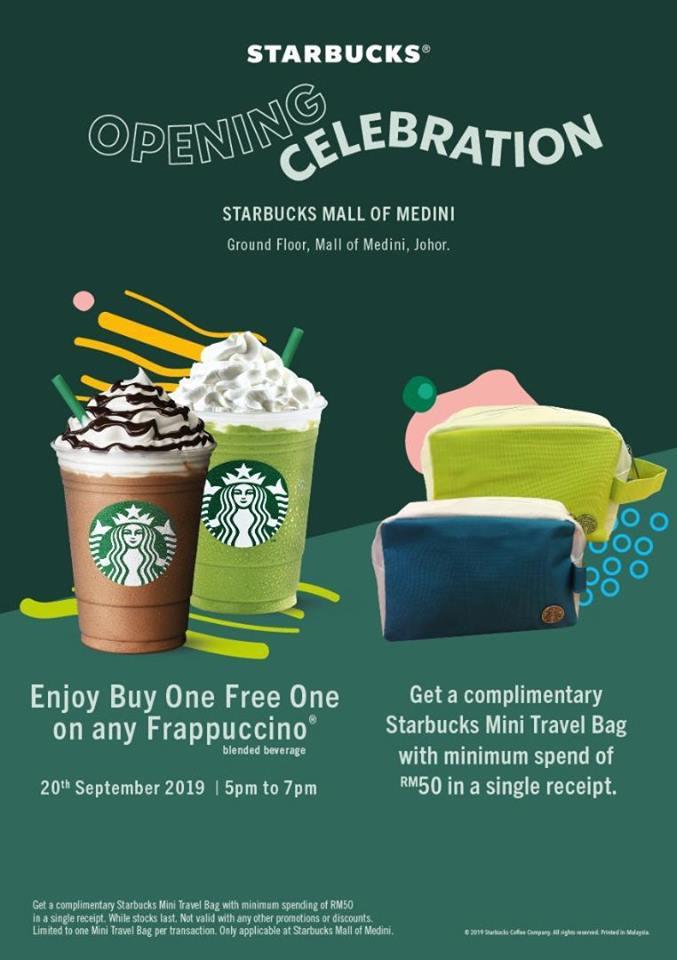 Starbucks Opening Celebration Mall of Medini – 20 Sep 2019