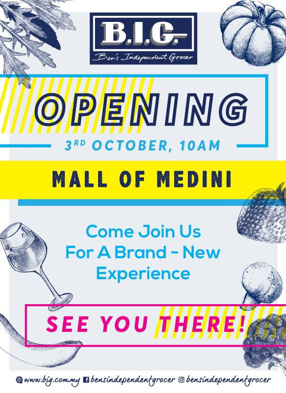Opening Ben's Independent Grocer (B.I.G) Mall of Medini – 3 October 2019