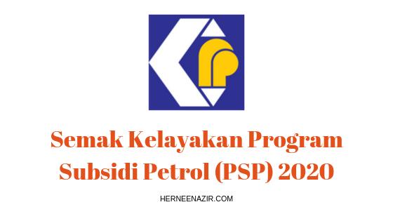 Semak Kelayakan Program Subsidi Petrol (PSP) 2020