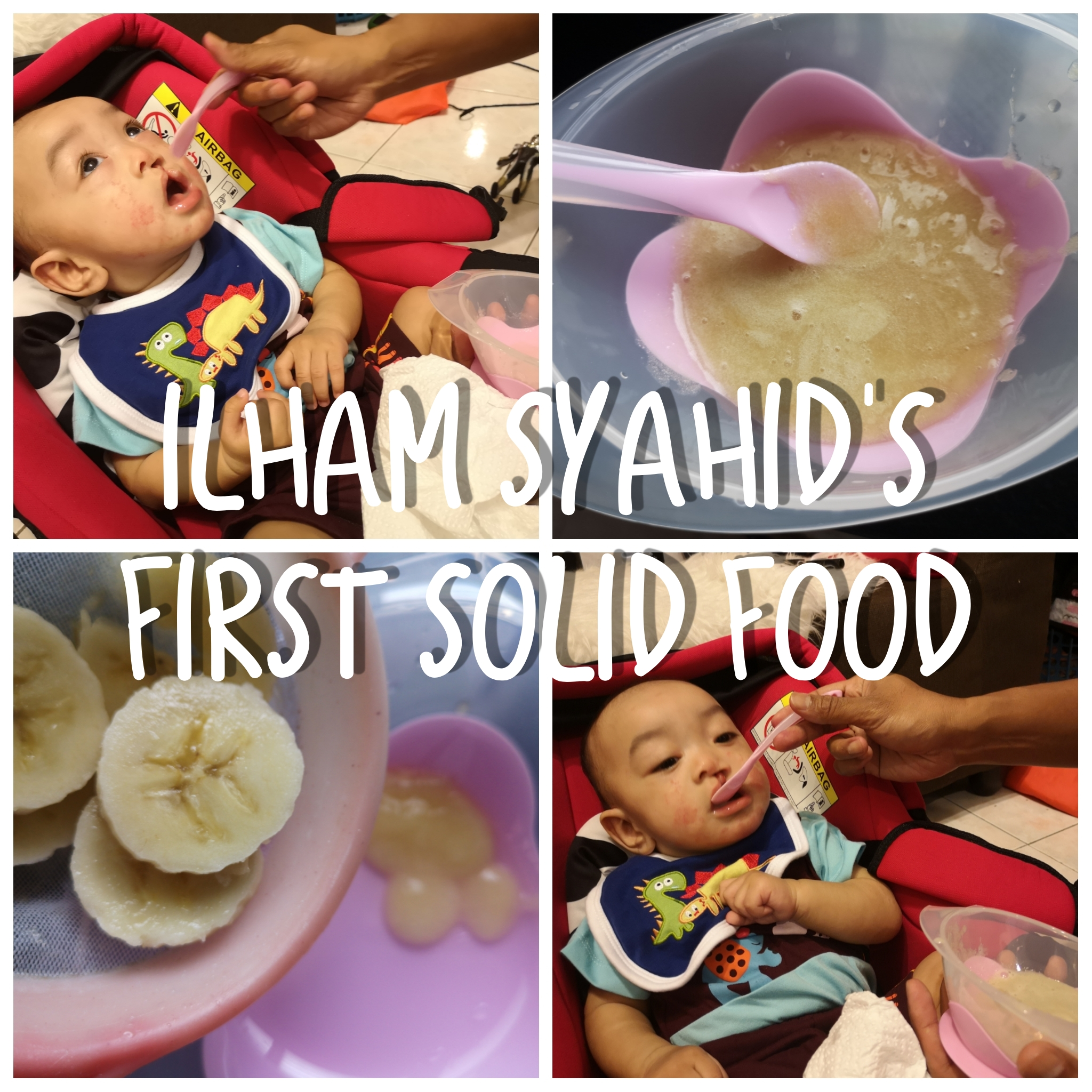 Ilham Syahid's First Solid Food