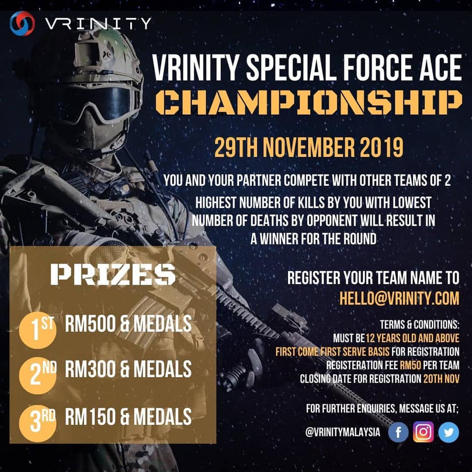 VRinity Special Force Ace Championship – 29 Nov 2019