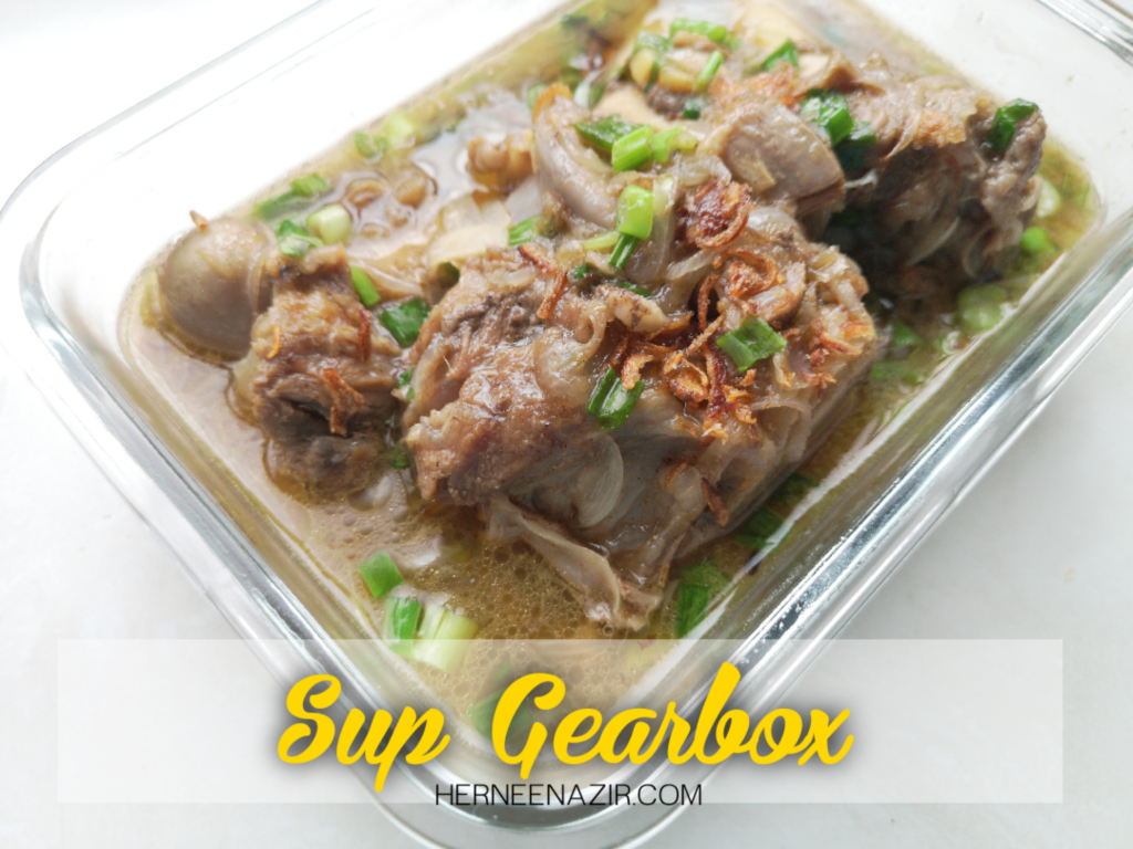 Resipi Sup Gearbox (Menggunakan Tefal Home Chef Smart Pro Multicooker - CY625D65)