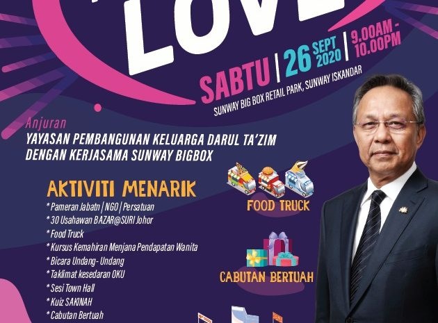 From YPKDT With Love | Sunway Big Box (26 September 2020 – 9am hingga 10pm)
