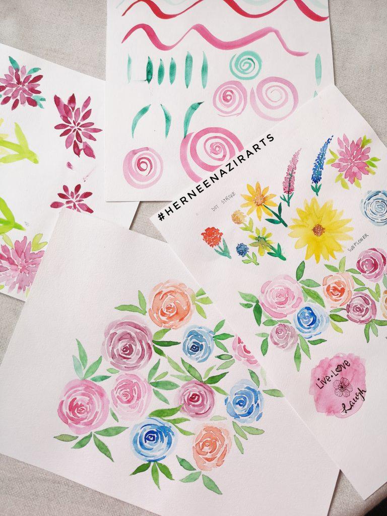 loose floral art