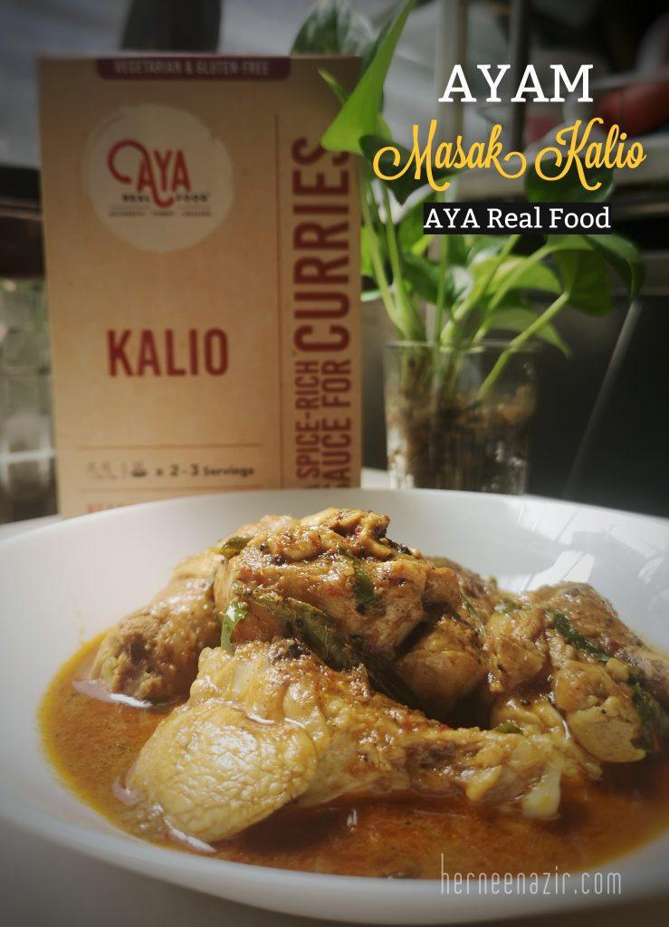 Ayam Masak Kalio Menggunakan Sos Kalio AYA Real Food