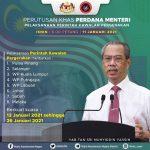 Perutusan Khas Perdana Menteri - Perlaksanaan Perintah Kawalan Pergerakan (Isnin 11 Januari 2021)