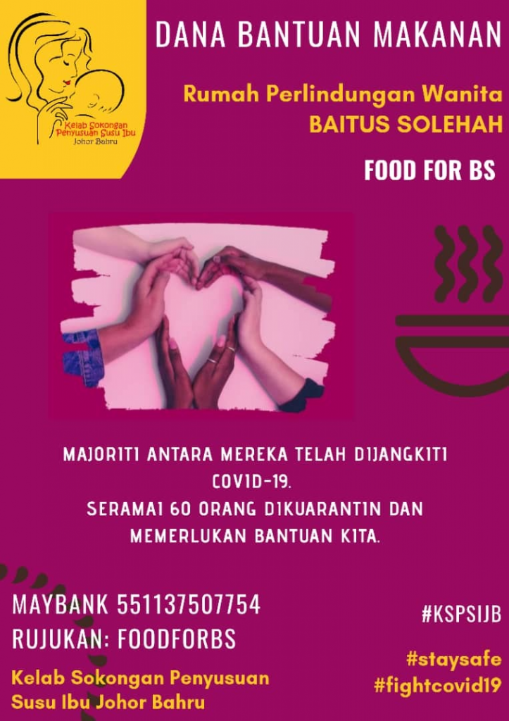 Dana Bantuan Makanan Untuk Rumah Perlindungan Baitus Solehah