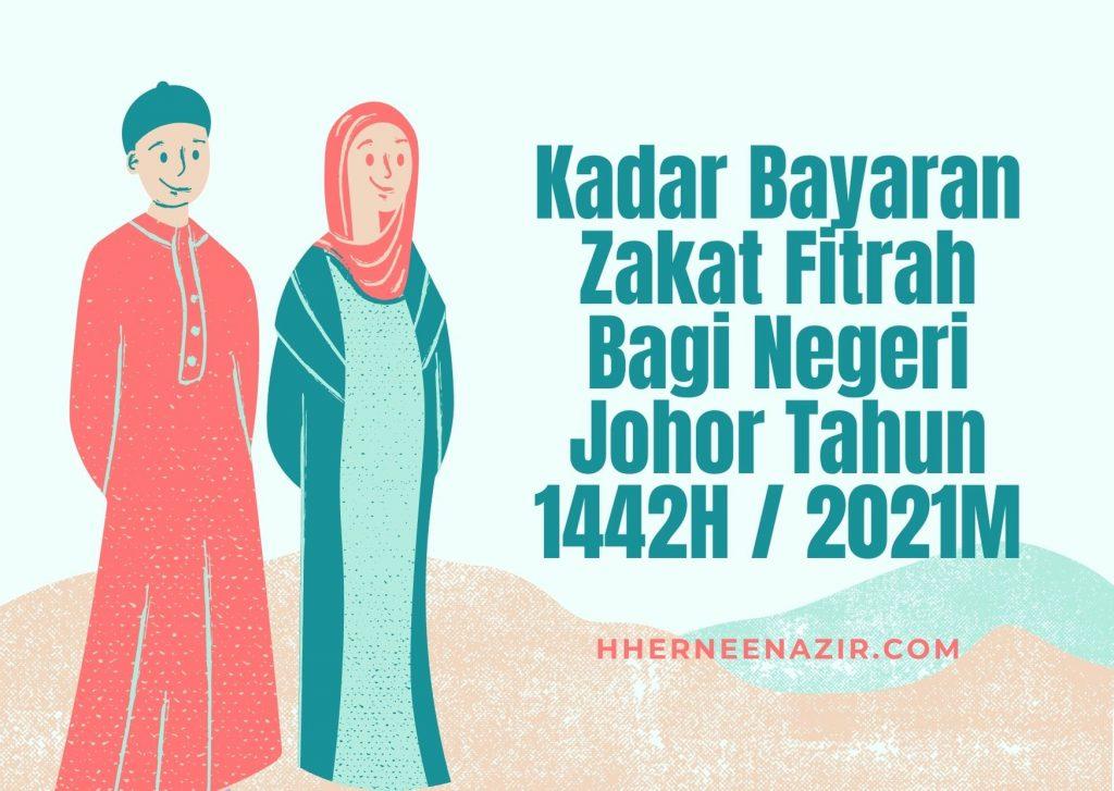 Kadar Bayaran Zakat Fitrah Bagi Negeri Johor Tahun 1442H 2021M