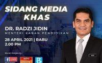 Intipati sidang media Menteri Kanan (Pendidikan) Datuk Dr. Mohd Radzi Md Jidin