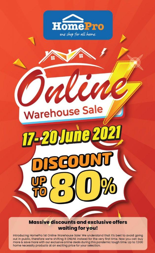 Jualan Gudang Online HomePro Malaysia (17 Jun - 20 Jun 2021)